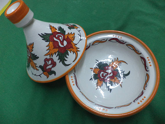 Traditional Moroccan hand made ceramic tagine