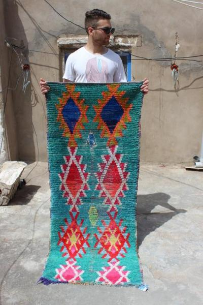 Green Berber Authentic Design Rug
