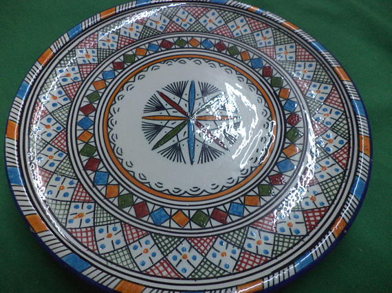 moroccan vintage pottery plates   ceramic plate