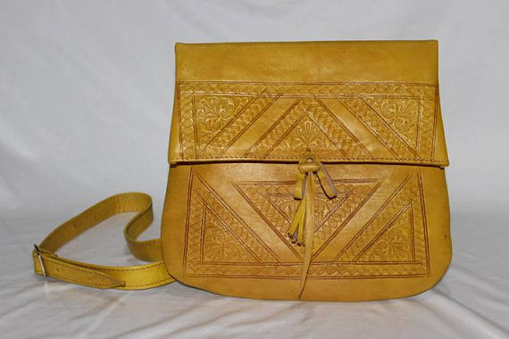 moroccan leather bag, moroccan handbags | leather handbags, Yellow handbag