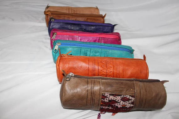 moroccan leather Kit, leather kit, boheian kit, colorful kit, kilim kit, handmade kit