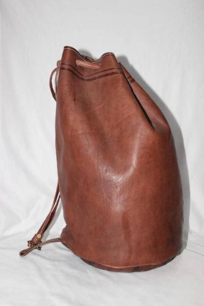 Moroccan bag shoulder leather bucket bags ,Moroccan handcrafted brown leather bucket bags, leather b