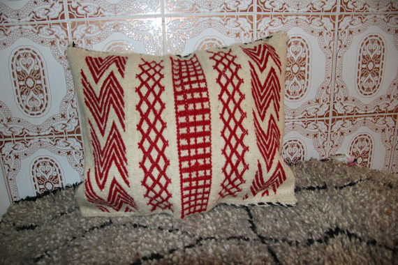 decorative berber beni ourain pillow