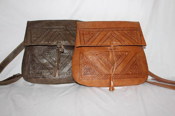 Moroccan leather bag, Moroccan handbags | leather handbags Tan Leather handbag Dark brown