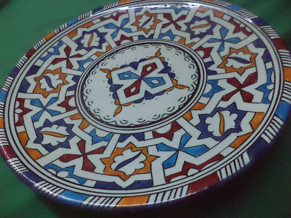 Morocco Pottery Hand Made Plate