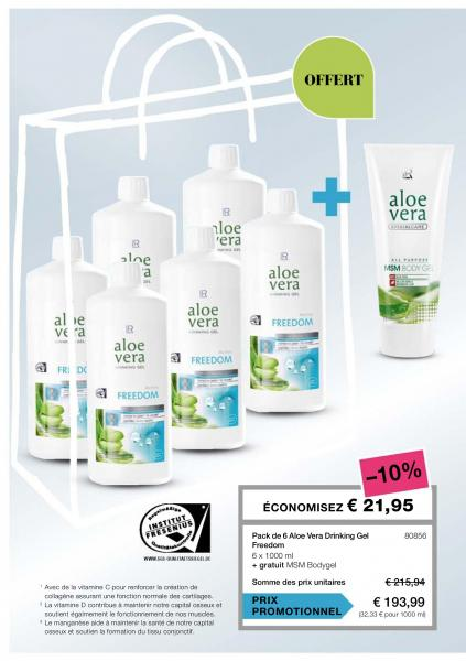 Pack de 6 aloe vera drinking gel freedom