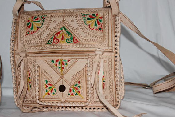 Bohemian Moroccan leather bag, Moroccan handbag | leather handbag, Leather purse