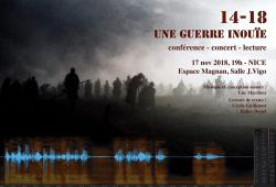 14-18  Une guerre IN-OUÏE - Conférence-Concert-Lecture