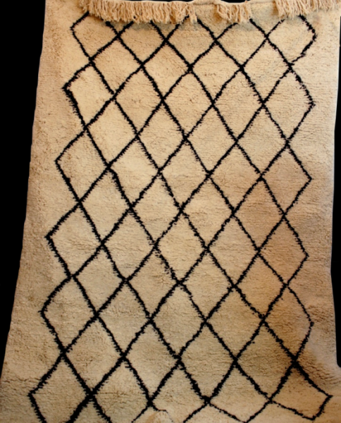 ANTIQUE TRIBAL BENI OURAIN RUG